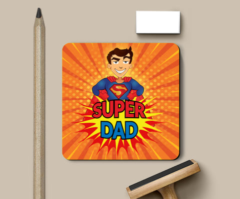 Super Dad Superman Father's Day | #Father's Day Special  Coasters | Artist : Creative DJ