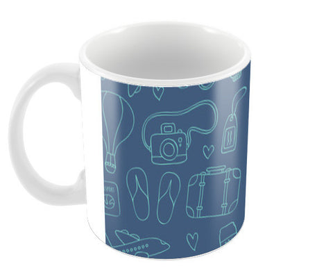 Sketchy Travel Coffee Mugs | Artist : Colour me expressive