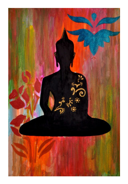Buddha Painting Wall Art Shwetad