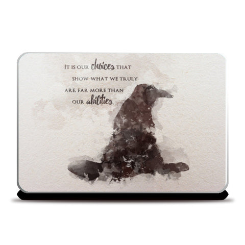 Harry Potter - Dumbledore quote Laptop Skins | Artist : Naeema Rezmin