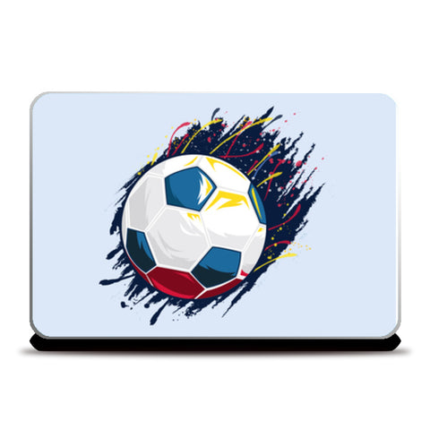 Smash Kick Football Art | #Footballfan Laptop Skins | Artist : Creative DJ
