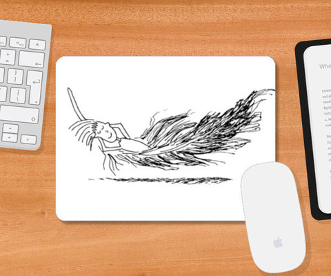 feather light mousepad Mousepad | Artist : Niharika Shenoy