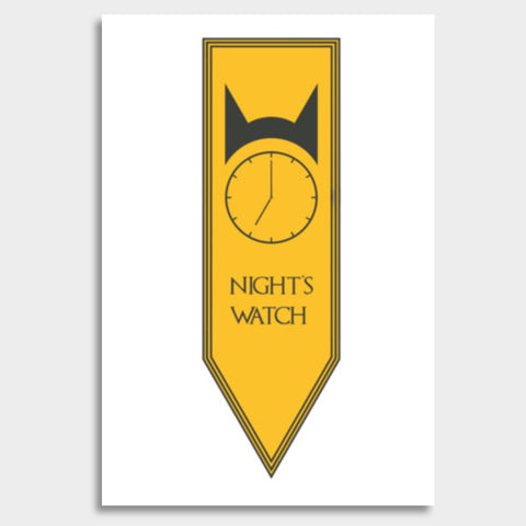 Game Of Thrones, Night's Watch, GOT Giant Poster | Artist : BY Darakhsha Dandekar, Karan Mehta and Udit Shah