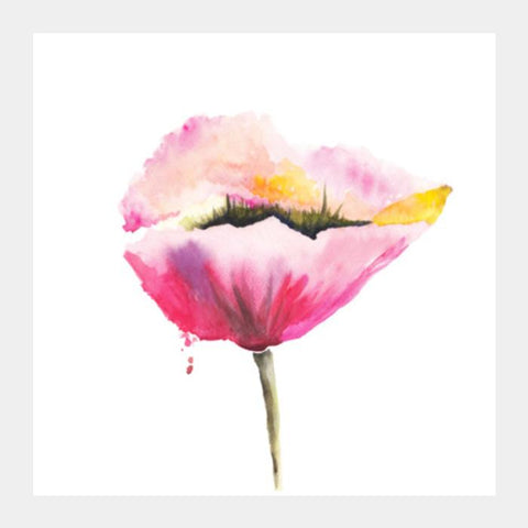 Poppy Flower Square Art Prints PosterGully Specials