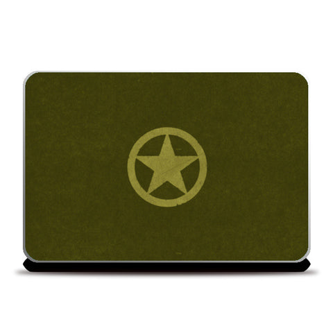 Laptop Skins, BRAVE ARMY STAR BADGE  Laptop Skins | Artist : dooo, - PosterGully