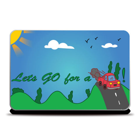 Laptop Skins, GO ride Laptop Skins | Artist : Anuj Goyal, - PosterGully