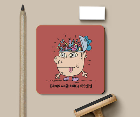 PosterGully Coasters, Brain wash needed coaster Coasters | Artist : Debasmita, - PosterGully