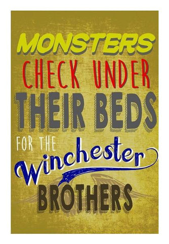 PosterGully Specials, Supernatural winchester brothers Wall Art | Artist : Gauri Deshpande, - PosterGully