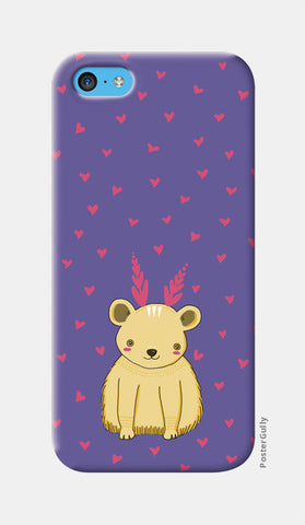Cute Bear Pattern iPhone 5c Cases | Artist : Prajakta Rao