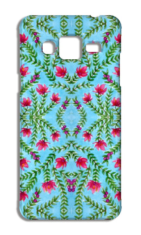 Blue And Pink Traditional Watercolour Floral Pattern Samsung Galaxy J3 2016 Cases | Artist : Seema Hooda