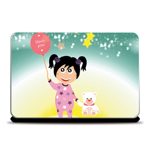 Laptop Skins, Moon Girl Laptop Skins | Artist : Vidhisha Kedia, - PosterGully