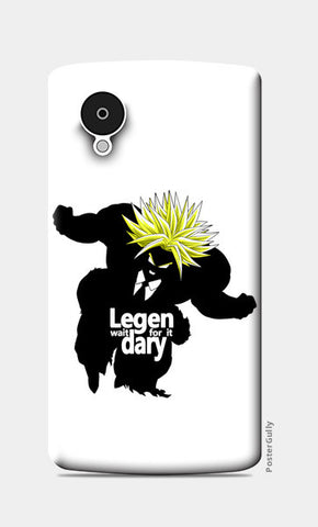 Nexus 5 Cases, Lege-wait for it-dary super saiyan Nexus 5 Case | Artist: Rahul Trivedi, - PosterGully