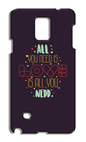 All you need is love is all you need Samsung Galaxy Note 4 Cases | Artist : Designerchennai