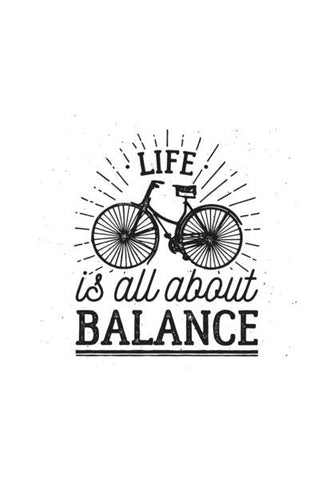 Life Is All About Balance Wall Art PosterGully Specials