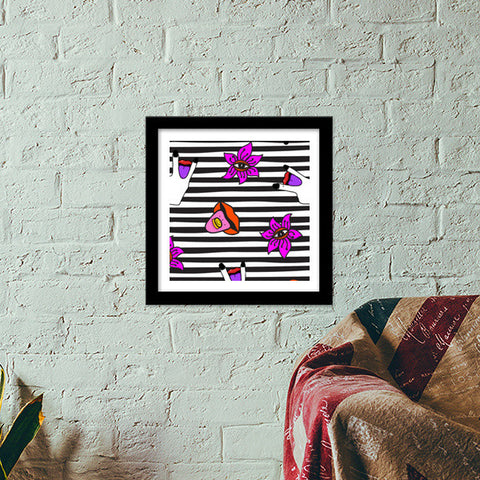 Get Psyched Premium Square Italian Wooden Frames | Artist : Aam Papad