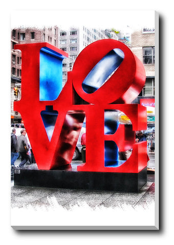 Canvas Art Prints, Love New York Stretched Canvas Print, - PosterGully - 1
