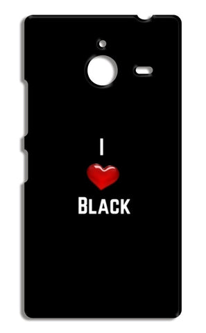 I love black Nokia Lumia 640 XL Cases | Artist : Pallavi Rawal