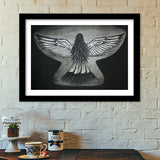 The Girl With Wings Premium Italian Wooden Frames | Artist : Parvathi Arun