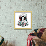 3D Space Duck3D Space Duck Premium Square Italian Wooden Frames | Artist : Pulkit Taneja