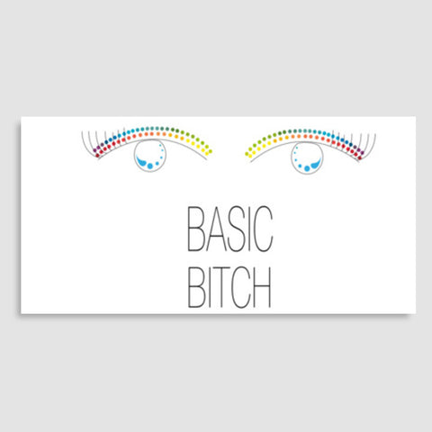 basic bitch,basic,bitch,minimalism,colour pop Door Poster | Artist : All the randomness