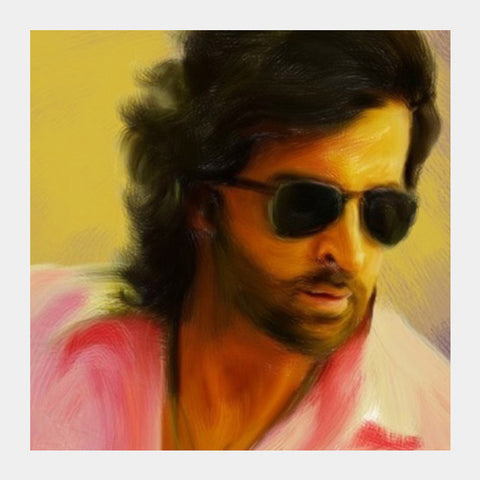 Square Art Prints, Hrithik Roshan Square Art Prints | Artist : Divakar Singh, - PosterGully