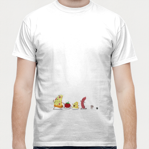 Pizzza Men T Shirts | Artist : Colour me expressive