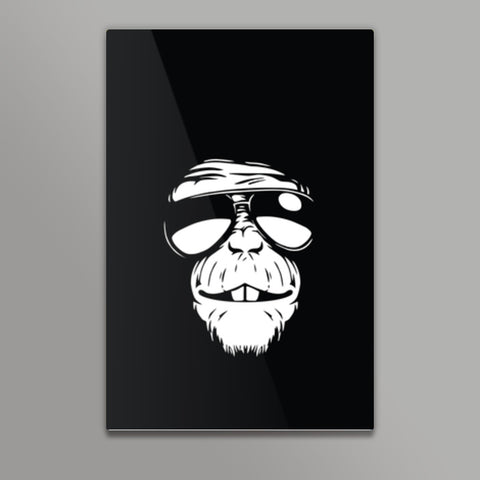Monkey Glasses Metal Prints | Artist : Inderpreet Singh