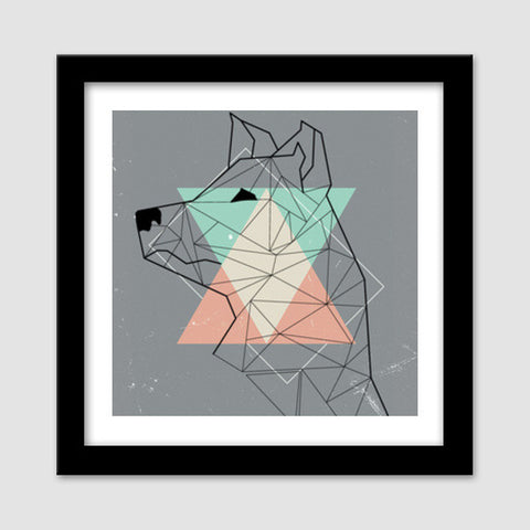 In Dog I Trust Premium Square Italian Wooden Frames | Artist : ShadowsPlay