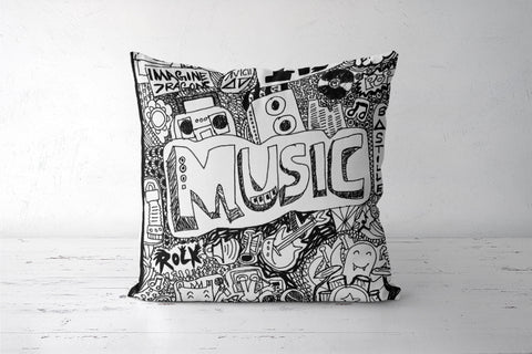 Music Cushion Cover | Artist:  Aishwarya Girish Menon