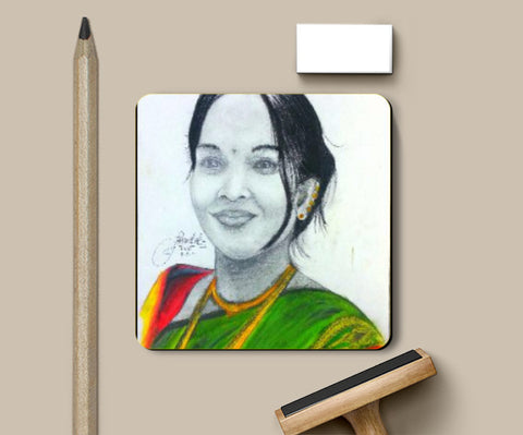 Coasters, Indian traditional charcoal and pencil sketches Coaster | Bhushan Mandal, - PosterGully