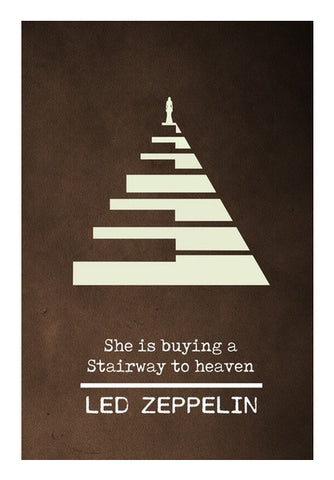 Stairway to heaven Led Zeppelin classic rock music  Wall Art | Artist : Gauri Deshpande
