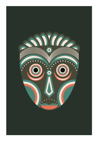 PosterGully Specials, Lulua Initiation Spirit Mask Wall Art | Artist : Designerchennai, - PosterGully