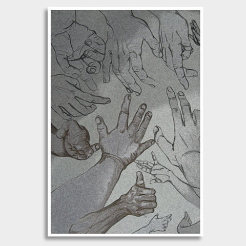 hands for help Giant Poster | Artist : amit kumar
