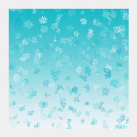 Blue white flower texture Square Art Prints | Artist : Pallavi Rawal