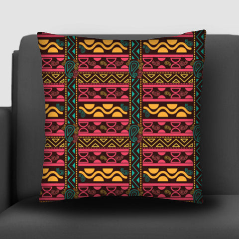 Abstract geometric pattern african style Cushion Covers | Artist : Designerchennai