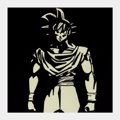 Square Art Prints, Goku DragonBall Z | Artist: Abhinav Moona, - PosterGully