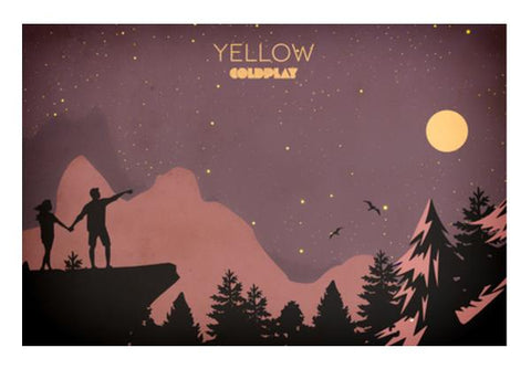 PosterGully Specials, Yelow Coldplay Wall Art  | Artist : Rohan Jaiswal, - PosterGully