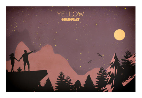 Yelow Coldplay Wall Art  | Artist : Rohan Jaiswal