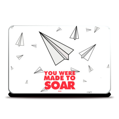 Paper Planes Motivation Quote Laptop Skins | Artist : Sanpreet Kaur