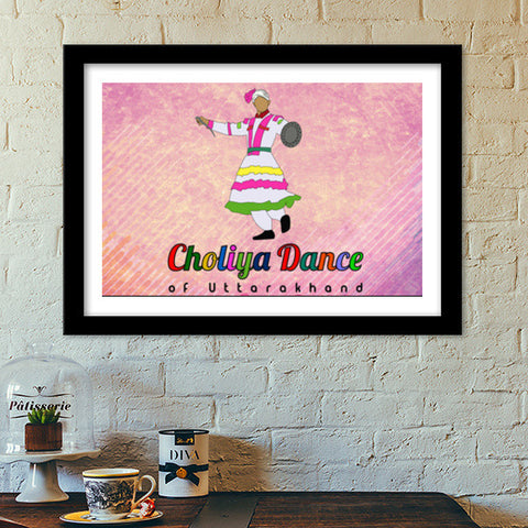 Choliya Dance of Uttarakhand  Premium Italian Wooden Frames | Artist : Tripund Media Works