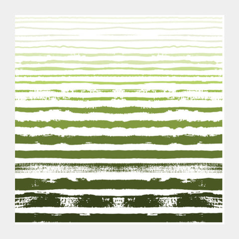Uneven Green Stripes Square Art Prints PosterGully Specials