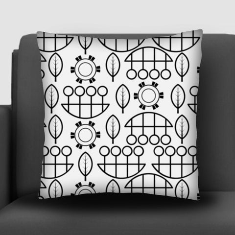 Black and white design vector pattern Cushion Covers | Artist : Designerchennai