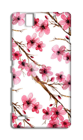 Beautiful Pink Spring Cherry Blossoms Floral Pattern Sony Xperia C4 Cases | Artist : Seema Hooda
