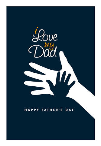 I Love My Dad Son And Father Love | #Father's Day Special  Wall Art | Artist : Creative DJ