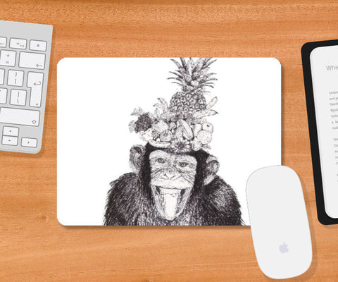 Mousepad, Chill Monkey Mousepad | Artist: Vinayak Dasari, - PosterGully