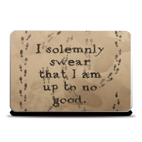 I solemnly swear quote - Harry Potter Laptop Skins | Artist : Naeema Rezmin