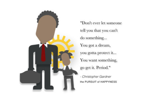 The Pursuit of Happyness |  Minimal Poster | Will Smith | Quotes Wall Art  | Artist : Sriparna Chandra
