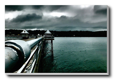 Canvas Art Prints, Dark Clouds And Sea Stretched Canvas Print, - PosterGully - 1