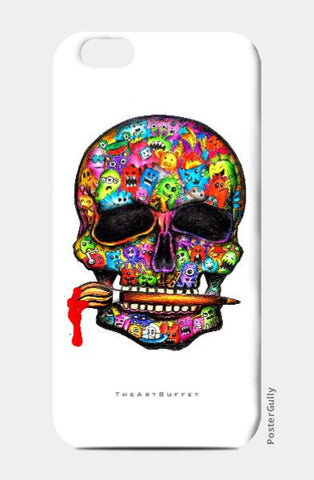 iPhone 6 / 6s, Skull doodle iPhone 6 / 6s case | Artist: Sargam Ganesh, - PosterGully