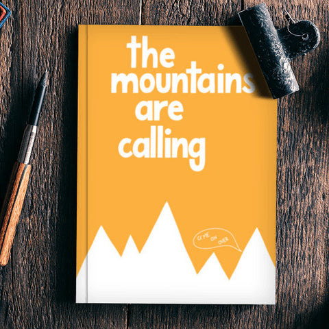 The Mountains Are Calling Notebook | Artist : Nishant Chauhan